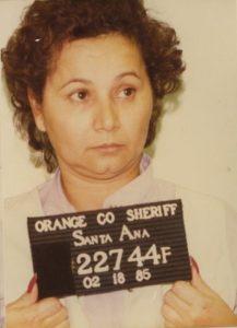 Photo d'identité judiciaire de Griselda Blanco en 1985