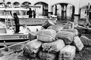 Saisie de marijuana à miami en 1987